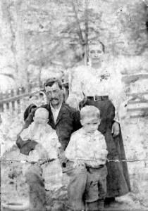 Una delle poche foto della famiglia di Jacob Vowell, autore di una delle più toccanti lettere di addio