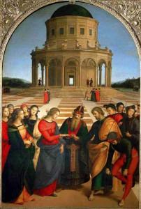 Lo sposalizio della Vergine di Raffaello