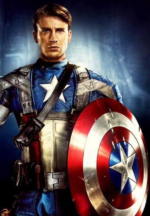 Capitan America col volto di Chris Evans