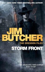 Pubblicità di Storm Front, il primo libro della saga The Dresden Files di Jim Butcher