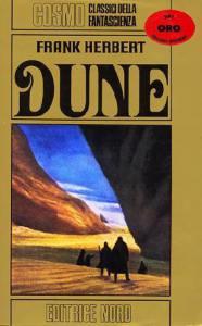 Copertina dell'edizione italiana di Dune, uno dei più celebri libri di fantascienza
