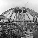 Foto d'epoca della costruzione della Galleria