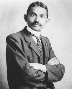 Gandhi da giovane