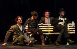Alcuni attori della Scuola di recitazione del Teatro Stabile di Genova