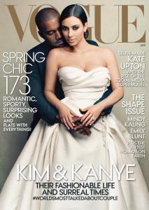 Kanye West e Kim Kardashian sulla copertina di Vogue