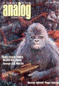La copertina di Analog in cui fu pubblicato il racconto di George R.R. Martin