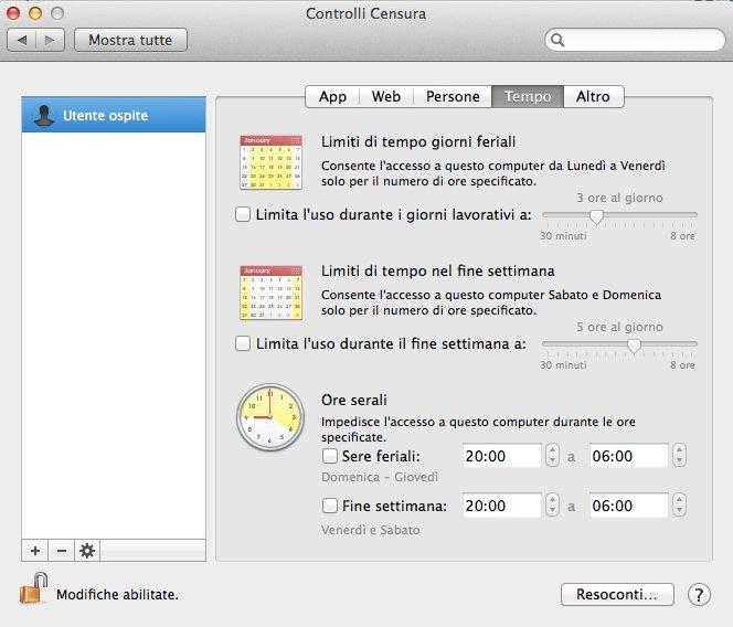 I controlli censura sul Mac
