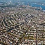 I canali di Amsterdam visti dall'alto