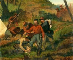Garibaldi in Aspromonte di Giovanni Fattori