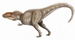 Una ricostruzione artistica di come poteva essere il Giganotosauro