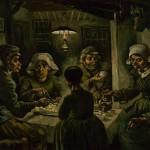 I mangiatori di patate, uno dei quadri più famosi conservati al van Gogh Museum di Amsterdam
