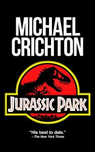 La copertina di Jurassic Park di Michael Crichton