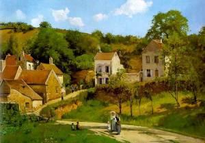 Camille Pissarro - L'Hermitage a Pontoise