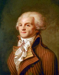 Robespierre, l'emblema del cavaliere della virtù hegeliano
