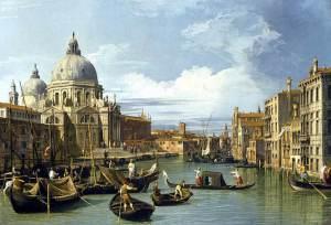 Canaletto - Il Canal Grande e la chiesa di Santa Maria della Salute