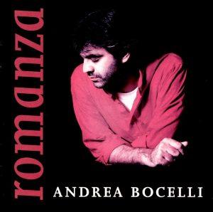 La copertina di Romanza, disco di Andrea Bocelli che conteneva anche la prima versione di Con te partirò