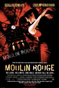 Moulin Rouge!, con Nicole Kidman ed Ewan McGregor
