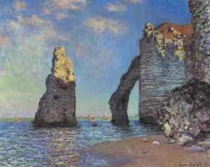 Scogliera a Etretat di CLaude Monet