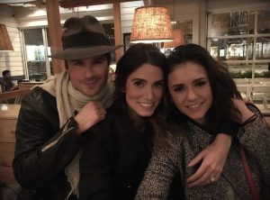 Ian Somerhalden in una foto da Instagram assieme all'allora fidanzata Nikki Reed e a Nina Dobrev