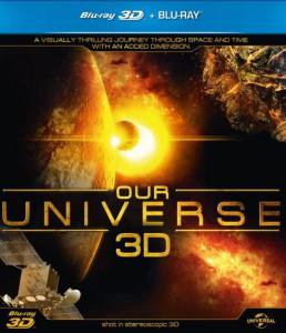 La copertina della versione Blu-Ray di Our Universe 3D