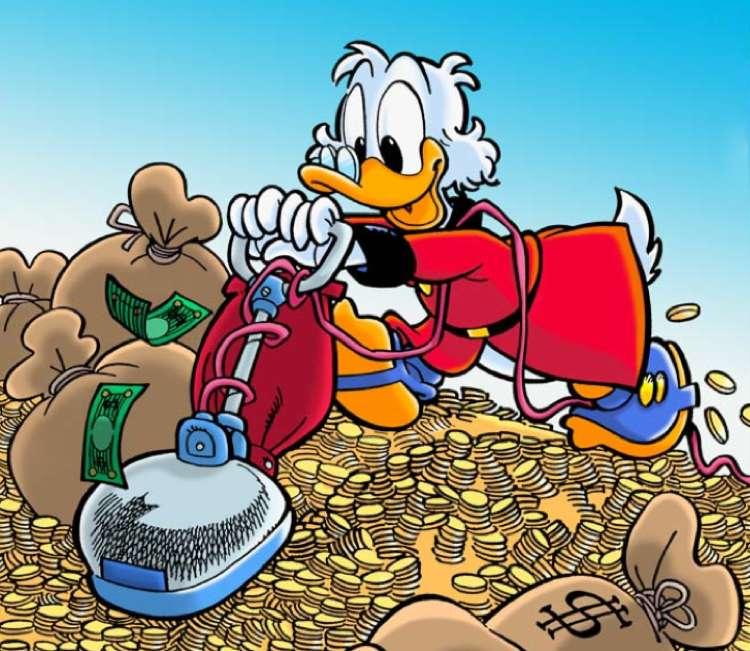 Paperon de' Paperoni alle prese coi suoi dollari