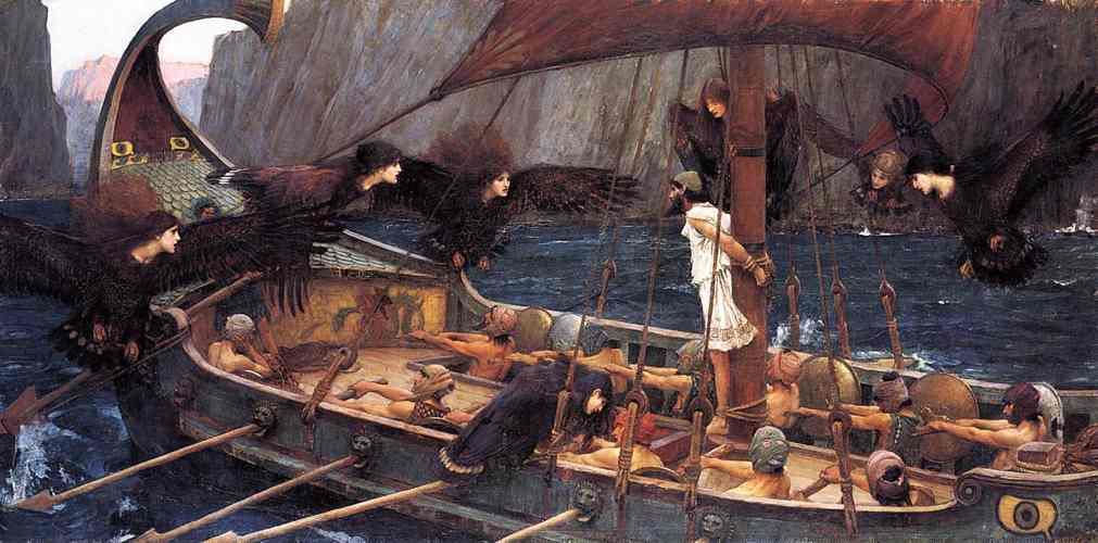 Ulisse e le sirene in un dipinto del preraffaelita John William Waterhouse