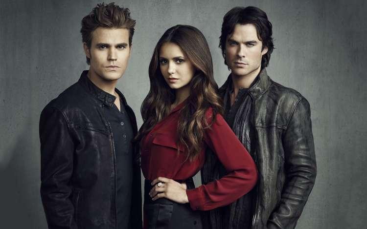 I tre protagonisti di The Vampire Diaries