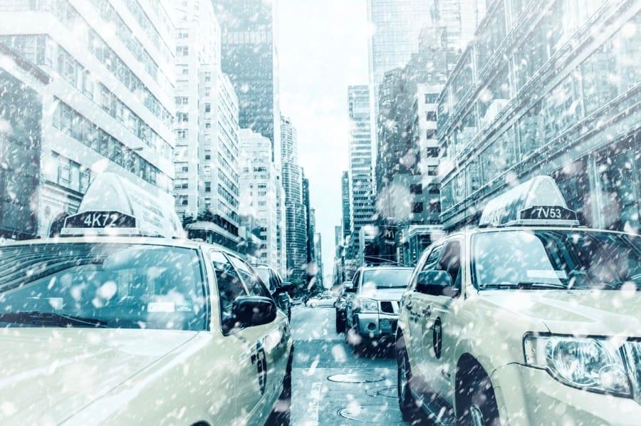 New York a Natale, sotto la neve