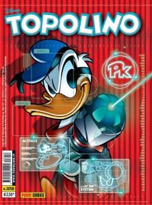 La copertina del Topolino in cui è comparso il primo episodio di PK: Potere e potenza