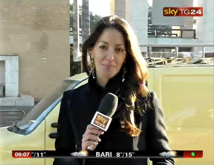 Ketty Riga, inviata di Sky TG24