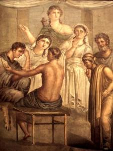 Alcesti e Admeto in un affresco di Pompei