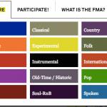 I generi in cui sono divisi gli mp3 su Free Music Archive