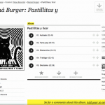 La pagina di download di un album su Free Music Archive