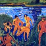 Bagnanti tra le canne, uno dei quadri più celebri dell'espressionismo tedesco