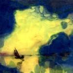 Il sole al crepuscolo, acquerello di Nolde