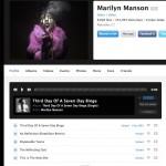 La pagina di Marilyn Manson su PureVolume