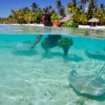 Le fantastiche acque di Bora Bora, isola tra le più belle dell'Oceano Pacifico