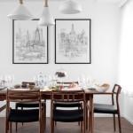 Una sala da pranzo minimalista