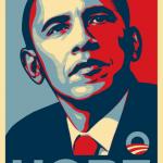 Hope, il celebre manifesto pro-Obama, di Shepard Fairey