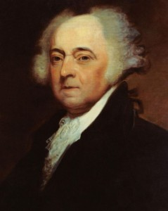 John Adams, già vicepresidente di George Washington e terzo presidente