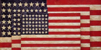 Il celebre Three Flags di Jasper Johns