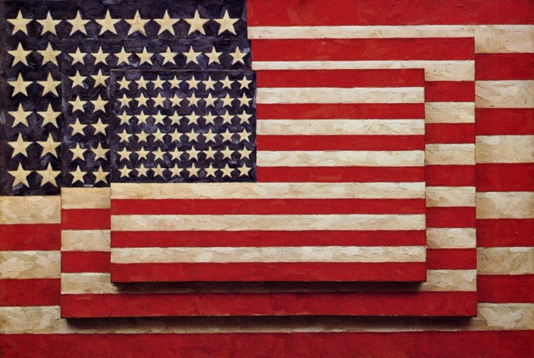 Il celebre Three Flags di Jasper Johns