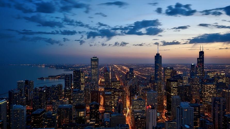 Lo skyline di Chicago, la terza tra le città degli Stati Uniti più popolose