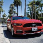 Una Ford Mustang a Los Angeles