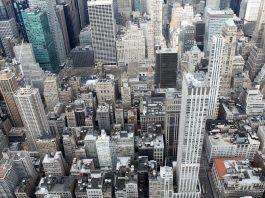 I palazzi di New York City, la città più popolosa degli Stati Uniti