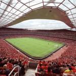 L'Emirates di Londra, forse il più bello e moderno tra gli stadi inglesi delle squadre di Premier