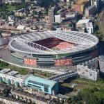 L'Emirates Stadium dall'alto