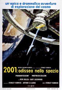 La locandina italiana originale di 2001: Odissea nello spazio