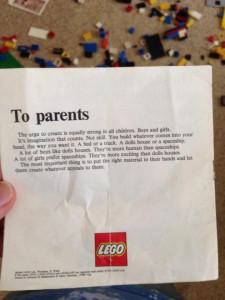 La lettera ai genitori scritta dalla LEGO negli anni '70