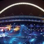 Wembley durante uno dei numerosi concerti che ospita